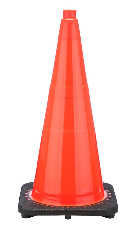 "FREE STENCIL 28"" 7 LB Orange Black Based Traffic Cone ..."