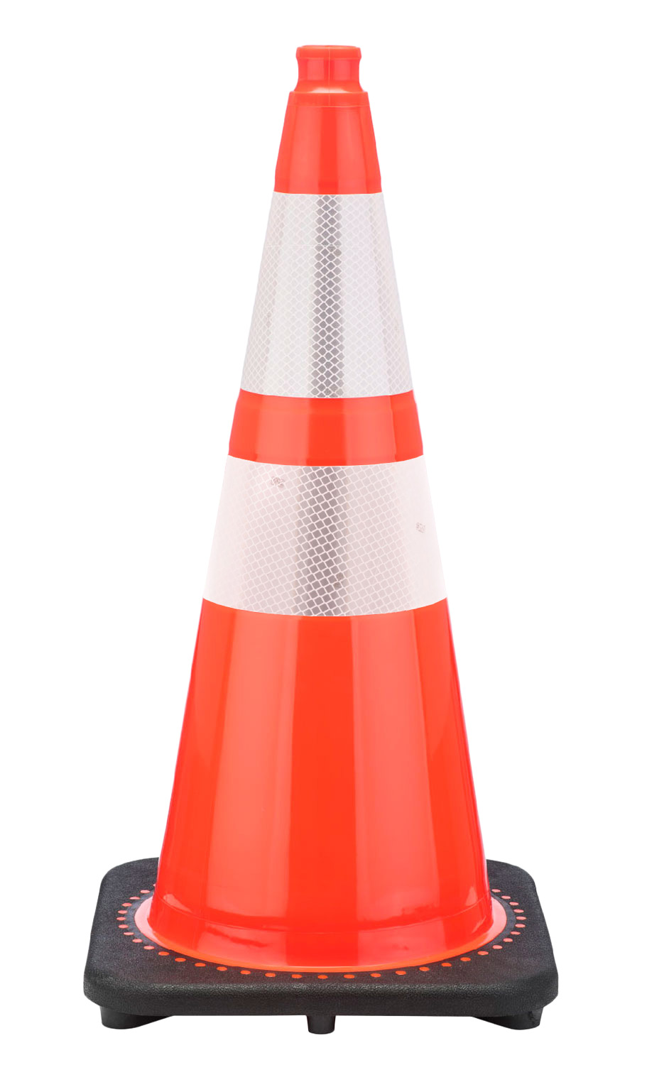 Free Stencil 28 Quot 7 Lb Wide Body Traffic Cone W 6 Quot Amp 4 Quot 3m