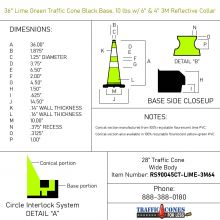 Traffic Cone w/Black Base - 2