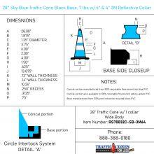 Traffic Cone w/Black Base - 2
