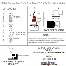 Traffic Cone w/Black Base - 1