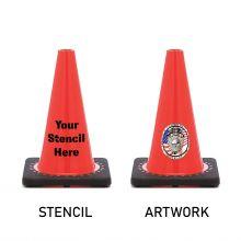 Traffic Cone w/Black Base - 3