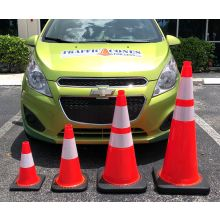 Traffic Cone w/Black Base - 3