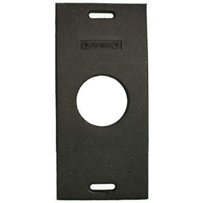 Cortina Recycled Rectangular 30 lbs Black Rubber Base