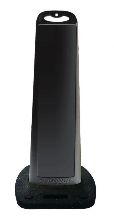 45 Inch Black Vertical  Panel Blank w/Rubber Base