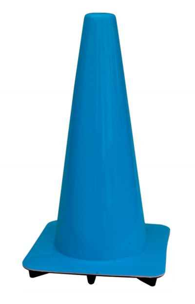 """Lakeside 18"""" Blue Traffic Cones, Made in USA"""
