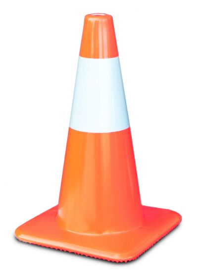 """Buy 18"""" Orange Traffic Cones w/6"""" Reflective Collar, Made in USA  on sale online"""