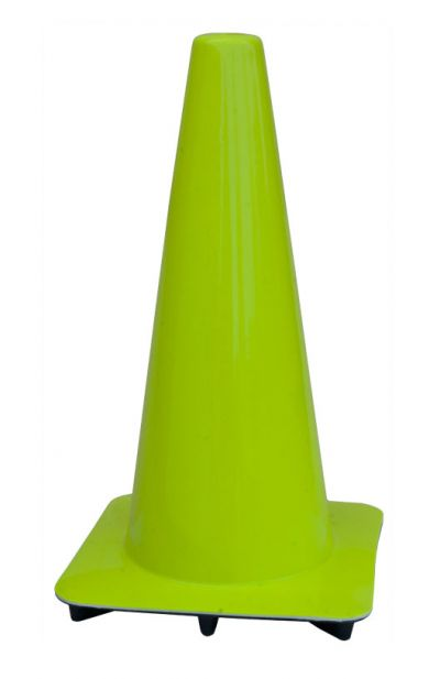 """Lakeside 18"""" Lime-Green Traffic Cones, Made in USA"""