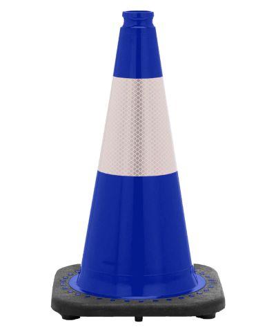 "18"" Navy Blue Traffic Cone Black Base, 3 lbs w/6"" Reflective Collar"