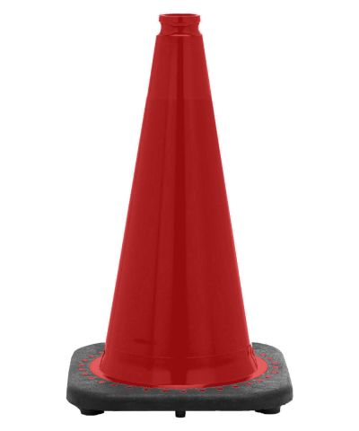 "18"" Red Traffic Cone Black Base, 3 lbs"
