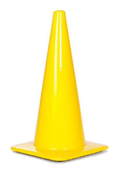"""Lakeside 28"""" 7 lbs Yellow Traffic Cone"""