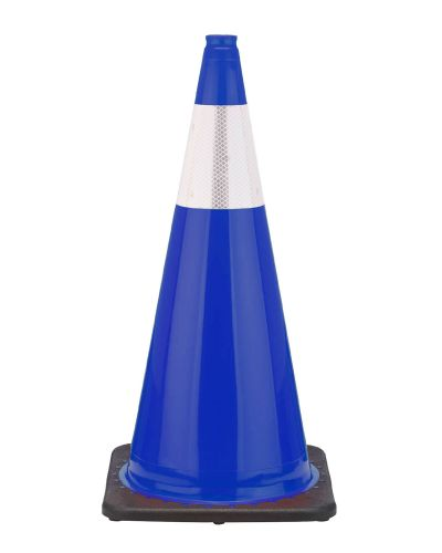 "Buy 28"" Navy Blue Traffic Cone Black Base, 7 lbs w/6"" Reflective Collar on sale online"