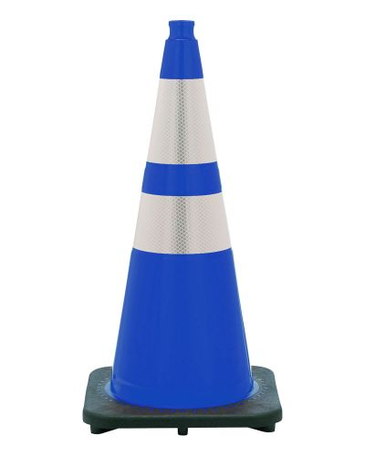 """Buy 28"""" Navy Blue Traffic Cone Black Base, 7lbs w/ 6"""" & 4"""" 3M Reflective Collar on sale online"""