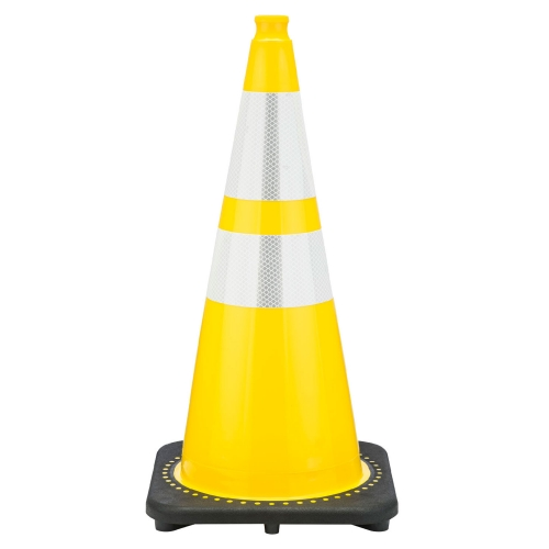 """Buy 28"""" Yellow Traffic Cone Black Base, 7 lbs w/ 6"""" & 4"""" Reflective Collar on sale online"""