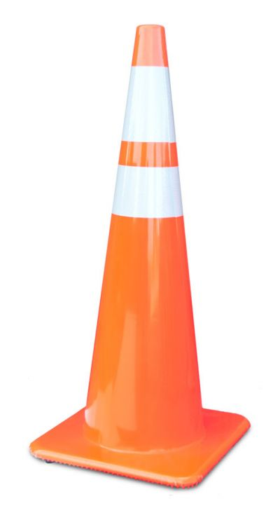 "Buy 36"" All Orange 10 lbs Traffic Cones with 4"" and 6"" Collars Made in USA on sale online"