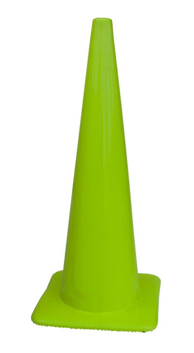 "Lakeside 36"" All Lime-Green Traffic Cones Made in USA"