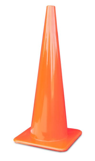 "Buy 36"" All Orange Traffic Cones Made in USA on sale online"