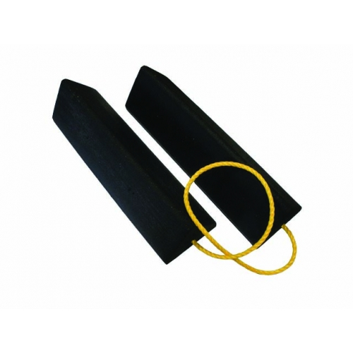 Aircraft Chocks Pair with Yellow Rope Connector
