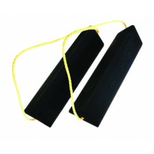 Aircraft Chocks Pair with Yellow Rope Handle