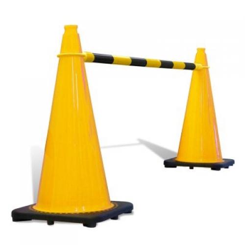 Retractable Cone Bar - Black & Yellow