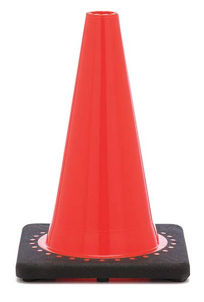 "Buy 12"" Orange Traffic Cone Black Base, 1.5 lbs on sale online"