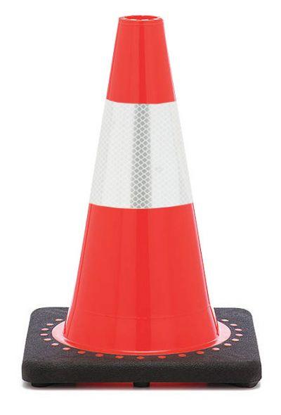"Buy 12"" Orange Traffic Cone Black Base w/ 4"" Reflective Collar on sale online"