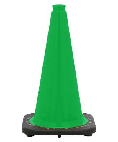 "Buy 18"" Kelly Green Traffic Cone Black Base, 3 lbs on sale online"