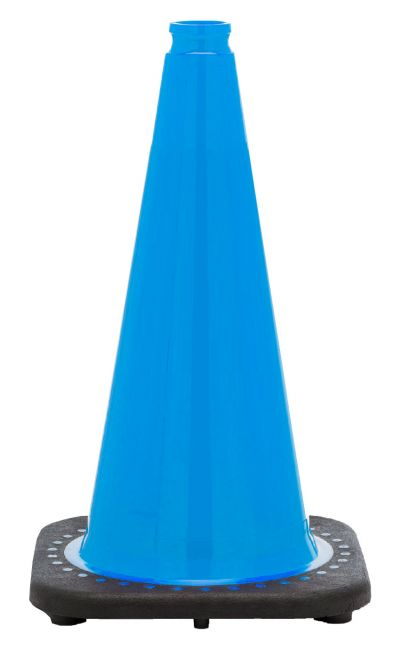 "Buy 18"" Sky Blue Traffic Cone Black Base, 3 lbs on sale online"