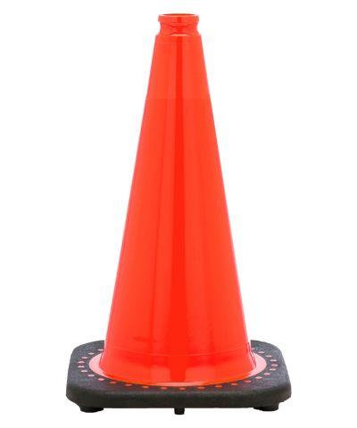 "Buy 18"" Orange Traffic Cone Black Base, 3 lbs on sale online"
