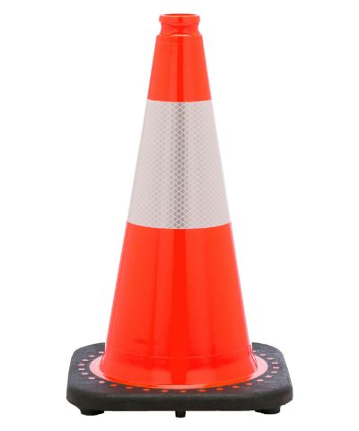 "Buy 18"" Orange Traffic Cone Black Base, 3 lbs w/6"" 3M Reflective Collar on sale online"