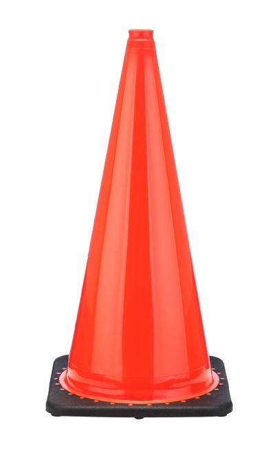 "Buy 28"" Orange Traffic Cone Black Base, 5.5 lbs on sale online"