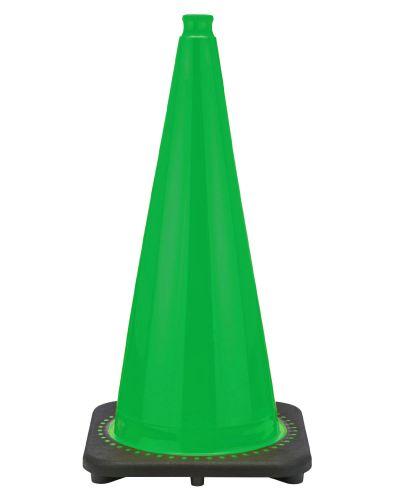 "Buy 28"" Kelly Green Traffic Cone Black Base, 7 lbs on sale online"