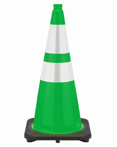 "Buy 28"" Kelly Green Traffic Cone Black Base, 7 lbs w/ 6"" & 4"" Reflective Collar on sale online"