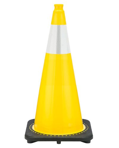 """Buy 28"""" Yellow Traffic Cone Black Base, 7 lbs w/6"""" Reflective Collar on sale online"""