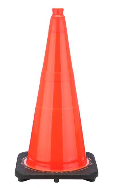 "Buy 28"" Orange Traffic Cone Black Base, 7 lbs on sale online"