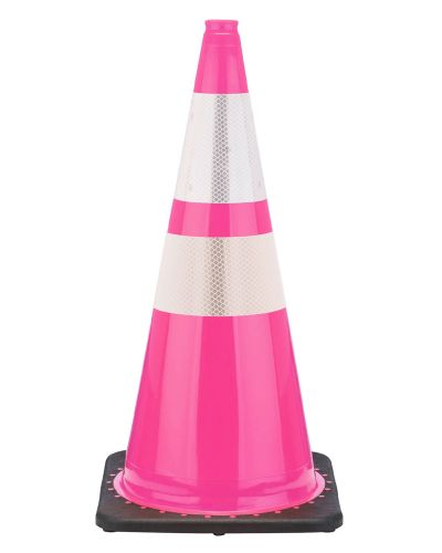 """Buy 28"""" Pink Breast Cancer Cone Black Base, 7 lbs w/ 6"""" & 4"""" 3M Reflective Collar on sale online"""