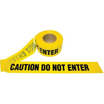 Barricade Yellow Caution Do Not Enter Tape 2 Mil, 1000 feet