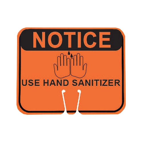 Cone Sign - Notice Use Hand Sanitizer