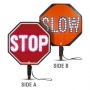 "Cortina LED 18"" Stop/Slow Sign HIP Paddle w/Padded Handle"