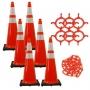 "36"" Traffic Cone w/Reflective Collars Chain Kit"
