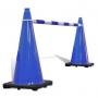 Retractable Cone Bar Blue & White