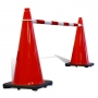 Retractable Cone Bar Red & White