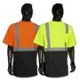 Black Bottom Hi Viz Short Sleeve T Shirt - Lime Or Orange
