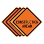 """36"""" x 36"""" Roll Up Traffic Sign - Construction Ahead"""