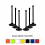 "Traffic Control Light Duty 41"" Plastic Stanchion Post (Pack of 6)"