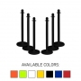 "Traffic Control Medium Duty 40"" Plastic Stanchion Post (Pack of 6)"