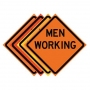 """36"""" x 36"""" Roll Up Traffic Sign - Men Working"""