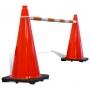 Retractable Cone Bar Orange & White