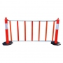 6 ft Roll Up Fence for Delineators Barricade