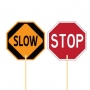Engineer Grade Reflective Stop/Slow Stand-Up Paddle Sign